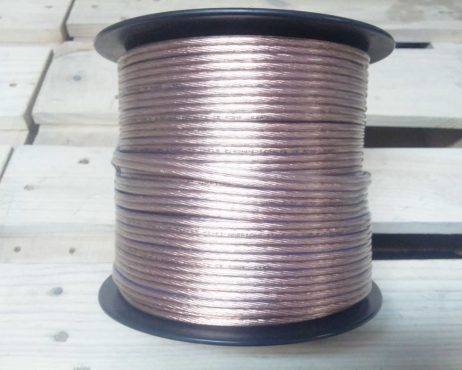 Audio kabelis 2x2,5mm², skaidrus - Garsiau.lt